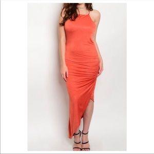 Dresses & Skirts - Brick Asymmetrical Dress